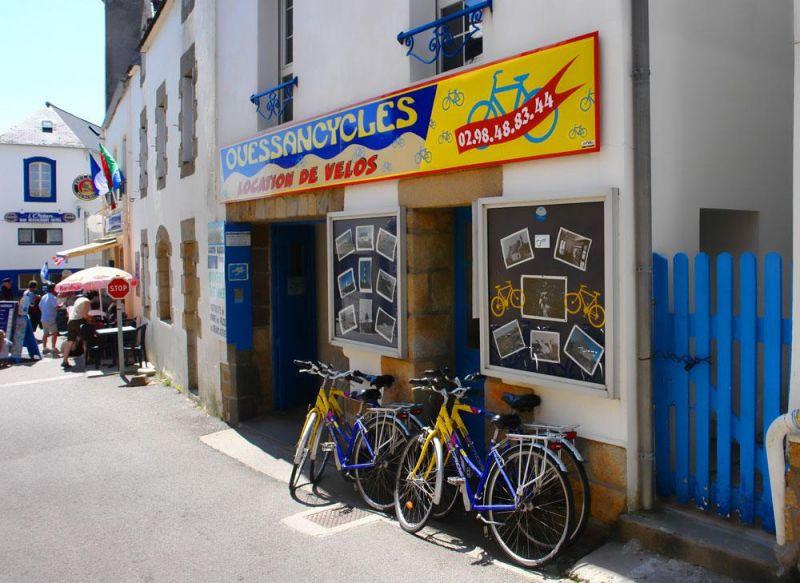 Boutique Location Vélos Bourg de Lampaul Ouessant - Accueil