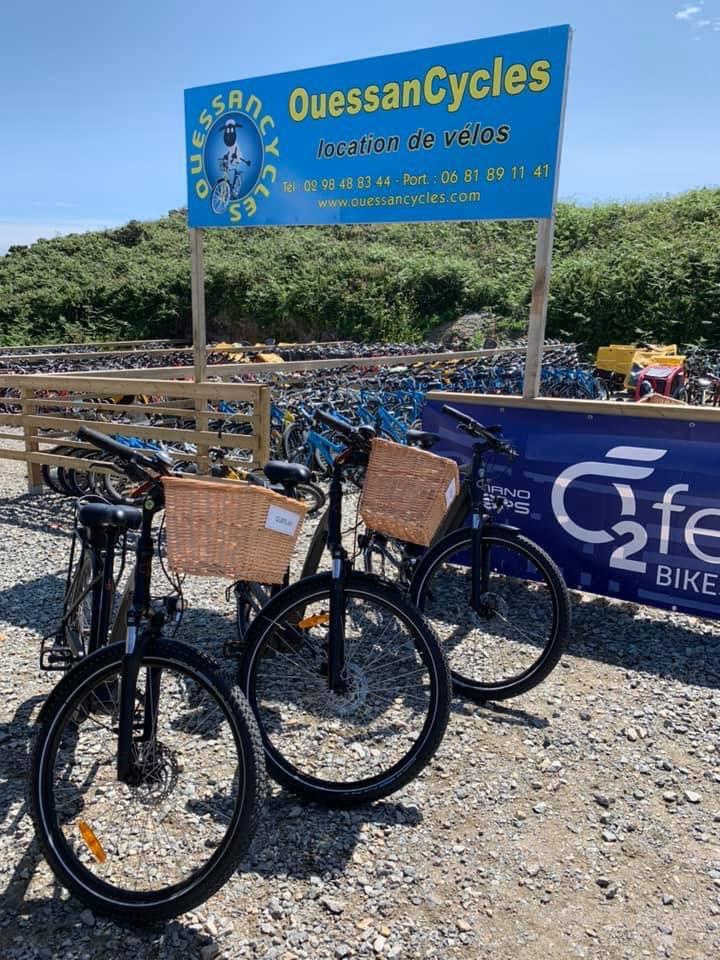 Ouessancycles Location Vélos cycles port du stiff VTT VTC électrique - Accueil